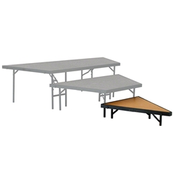 "National Public Seating SP488HB Seated Riser Stage Pie Tier, Hardboard, 8"" Height (48"" Deep) choral risers, band risers, school risers, seated risers, angle, wedge, NPS, national public seating"