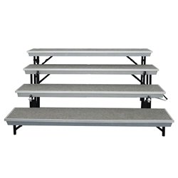 National Public Seating 4-Level Straight Trans-Port Standing Choral Riser standing risers, band risers, school risers, straight risers, transport risers, trans port risers, choir stage risers