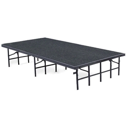 "National Public Seating 48""x96"" Carpeted Stage Panel, 16"" High 48x96, 96x48, 48x96x16, 96x48x16, 4x8, 8x4 folding stage, national public service, portable staging"
