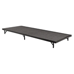 "National Public Seating 36""x96"" Carpeted Stage Panel, 8"" High 36x96, 96x36, 36x96x8, 96x36x8 folding stage, national public seating, portable stage"