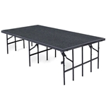 "National Public Seating 48""x96"" Carpeted Stage Panel, 32"" High 48x96, 96x48, 48x96x32, 96x48x32, 4x8, 8x4 folding stage, portable staging, national public seating"