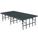 "National Public Seating 48""x96"" Carpeted Stage Panel, 24"" High 48x96, 96x48, 48x96x24, 96x48x24, 4x8, 8x4 folding stage, national public seating, portable staging"