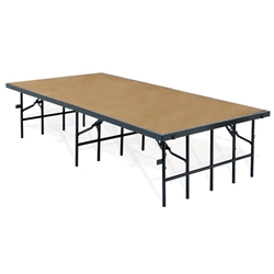 "National Public Seating 48""x96"" Hardboard Stage Panel, 8"" High 48x96, 96x48, 48x96x8, 96x48x8, 4x8, 8x4 folding stage, wood platform"