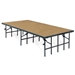 "National Public Seating 8'x16' Portable Stage Kit, 24"" High, Hardboard - NPS-SG482404HB"