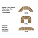 "National Public Seating 3-Tier Seated Riser Stage System, Hardboard (48"" Deep Tiers) - NPS-SBRC48HB"
