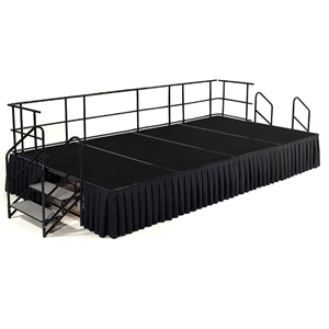National Public Seating 8x16 Carpeted Portable Stage - SG482404C