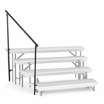National Public Seating Side Guard Rail for Trans-Port 4-Tier Standing Choral Riser guardrails, guard rails, siderails, side rails