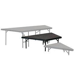 "National Public Seating Seated Riser Stage Pie Tier, 16"" Tall (48"" Deep) choral risers, band risers, school risers, seated risers, angle, wedge, NPS, national public seating"
