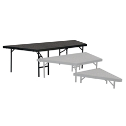 "National Public Seating SP4824C Seated Riser Stage Pie Tier, Carpet, 24"" Height (48"" Deep) SP4824, SP4824C, SP4824C-02, SP4824-04, SP4824-10, SP4824-40, choral risers, band risers, school risers, seated risers, angle, wedge, NPS, national public seating"