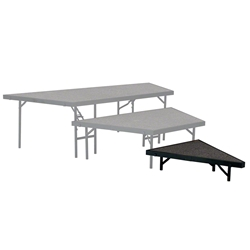 "National Public Seating Seated Riser Stage Pie Tier, 8"" Tall (48"" Deep) choral risers, band risers, school risers, seated risers, angle, wedge, NPS, national public seating"