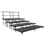 "National Public Seating 4-Tier Seated Riser Straight Stage Section, Carpeted (36"" Deep Tiers) choral risers, band risers, school risers, seated risers"