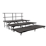 "National Public Seating 3-Tier Seated Riser Stage System, Carpeted (48"" Deep Tiers) - NPS-SBRC48C"