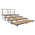 "National Public Seating 4-Tier Seated Riser Straight Stage Section, Hardboard (48"" Deep Tiers) choral risers, band risers, school risers, seated risers, S4832HB, S4824HB, S4816HB, S488HB"