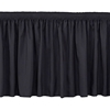 "National Public Seating SS16 Shirred Stage Skirt for 16"" High Stage"
