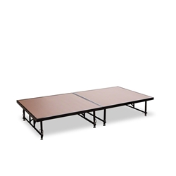 "National Public Seating TransFix 4x8 Hardboard Stage Kit, 16""-24"" High 4x8 stage kit, stage deck, wheels, wheeled, casters, transfix"