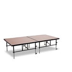 "National Public Seating TransFix 4'x8' Hardboard Stage Kit, 24""-32"" High 4x8 stage kit, stage deck, wheels, wheeled, casters, transfix"