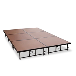 "National Public Seating TransFix 12x8 Hardboard Stage Kit, 16""-24"" High 12x8 stage kit, stage deck, wheels, wheeled, casters, transfix"