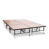 "National Public Seating TransFix 12'x8' Hardboard Stage Kit, 24""-32"" High"
