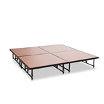 "National Public Seating TransFix 8'x8' Hardboard Stage Kit, 16""-24"" High 8x8 stage kit, stage deck, wheels, wheeled, casters, transfix"