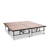 "National Public Seating TransFix 8'x8' Hardboard Stage Kit, 24""-32"" High"