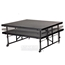 "National Public Seating TransFix 4'x4' Hardboard Stage Panel with Wheels, 16""-24"" High - NPS-TFXS48481624HB"