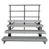 National Public Seating TransPort 4-Level Straight Choral Riser and Guard Rail Bundle
