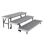 "National Public Seating 3-Level Straight Trans-Port Standing Choral Riser (18""x72"") choral risers, band risers, school risers, straight risers, transport risers, trans port risers, choir stage risers"