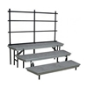 National Public Seating TransPort 3-Level Tapered Choral Riser and Guard Rail Bundle
