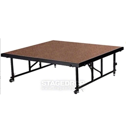"National Public Seating TransFix 4x4 Hardboard Stage Panel with Wheels, 16""-24"" High 4x4 staging platform, stage deck, wheels, wheeled, casters"