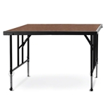 "National Public Seating TransFix 4'x4' Hardboard Stage Panel with Wheels, 24""-32"" High 4x4 staging platform, stage deck, wheels, wheeled, casters"