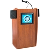 Oklahoma Sound 612S Vision Lectern with Sound and Screen, Cherry