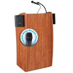 Oklahoma Sound 611-S/LWM 'The Vision' Wireless Sound Floor Lectern lectern, wireless podium, wired lectern, podium with microphone, podium speakers