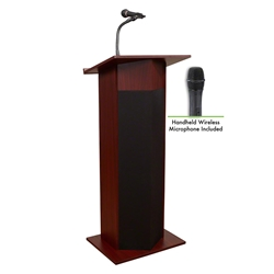 Oklahoma Sound 111PLS/LWM Power Plus Sound Wireless Lectern lectern, wired podium, wired lectern, podium with microphone, rechargeable battery, teaching lectern, speech lectern