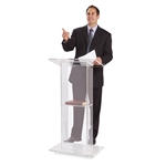 Oklahoma Sound 401S Clear Acrylic Lectern With Shelf podium, dais, lectern