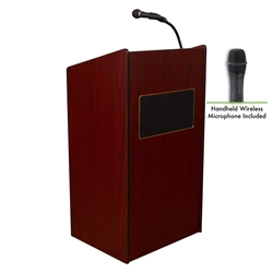 Oklahoma Sound 6010/LWM Aristocrat Floor Sound Wireless Lectern  teaching lecterns, training lecterns, lecterns, sound lecterns, school furniture, college furniture, university furniture, church, lecterns with sound