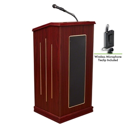 Oklahoma Sound 711/LWM Prestige Sound Wireless Lectern  lectern, wired podium, wired lectern, podium with microphone, rechargeable battery, teaching lectern, speech lectern, wireless microphone