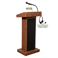 Oklahoma Sound 800X/LWM Orator Sound Wireless Lectern lectern, wired podium, wired lectern, podium with microphone, rechargeable battery, teaching lectern, speech lectern, wireless microphone