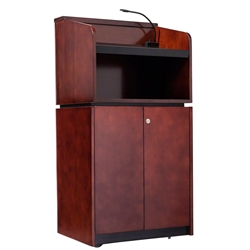 Oklahoma Sound 910/901-MY/WT Veneer Series Tabletop & Base Lectern Combo teaching lecterns, training lecterns, lecterns, non sound lecterns, school furniture, college furniture, university furniture, church