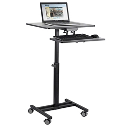 Oklahoma Sound EDTC Edutouch Sit-Stand Cart av cart, a/v cart, audio visual cart, sitting