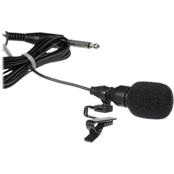 Oklahoma Sound MIC-3 Tie-Clip/Lapel/Lavalier Condenser Microphone w/ 10 Cable  wired microphone, standard mics, wired lapel microphone, lectern microphone, unidirectional microphone, tie clip microphone