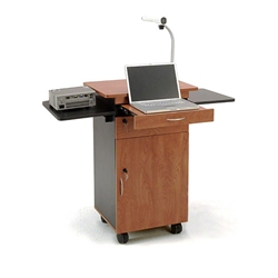 Oklahoma Sound MMC Multimedia Cart av cart, a/v cart, audio visual cart, projector cart, document reader cart