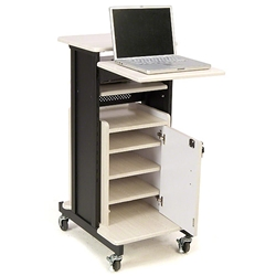 Oklahoma Sound PRC250 Premium Plus Presentation Cart w/Storage Cabinet av cart, a/v cart, audio visual cart, storage cabinet