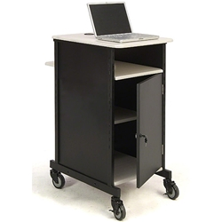 Oklahoma Sound PRC400 Jumbo Presentation Cart av cart, a/v cart, audio visual cart, locking cabinet