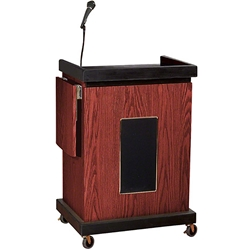 Oklahoma Sound SCL-S Smart Cart Lectern with Sound av cart, a/v cart, audio visual cart with sound