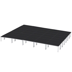 ProFlex 28x40 Indoor/Outdoor Portable Stage 28x40, 28 x 40, 40x28, 1120 square foot stage, adjustable height stage, multi-height stage, indoor outdoor stage