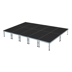 Pro Flex 16x20 Indoor/Outdoor Stage System 16x20, 20x16, 16 x 20, 320 square foot stage, adjustable height stage, multi-height stage, indoor outdoor stage