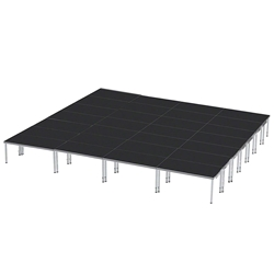 ProFlex 28x32 Indoor/Outdoor Portable Stage 28x32, 28 x 32, 32x28, 896 square foot stage, adjustable height stage, multi-height stage, indoor outdoor stage