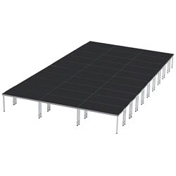 ProFlex 24x40 Indoor/Outdoor Portable Stage 24x40, 24 x 40, 40x24, 960 square foot stage, adjustable height stage, multi-height stage, indoor outdoor stage
