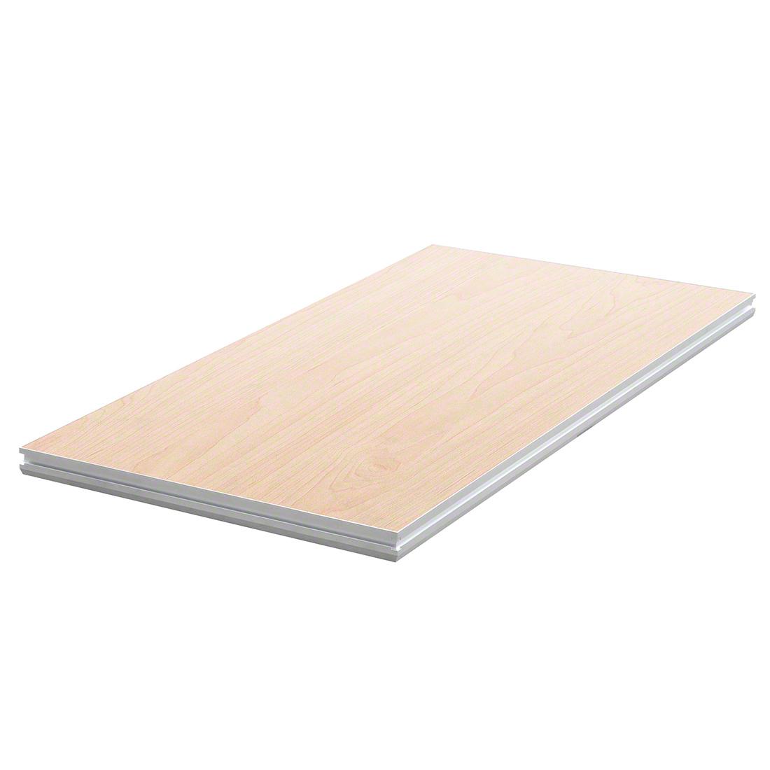 Pro flex 8 39 x4 39 stage platform natural wood unfinished for How to make wooden platform