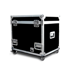 Pro Flex Utility Trunk with Casters for Stage Hardware & Accessories portable stage trunk, storage, transportation, stage storage, half-size utility trunk half truck pack, accessory storage, flight case, road case, rolling